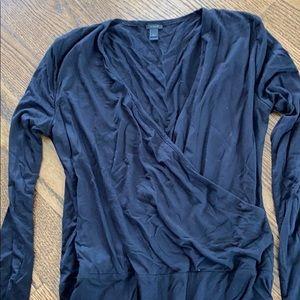 Barely worn jcrew size medium black bodysuit
